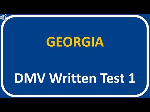 Georgia DMV Written Test 1