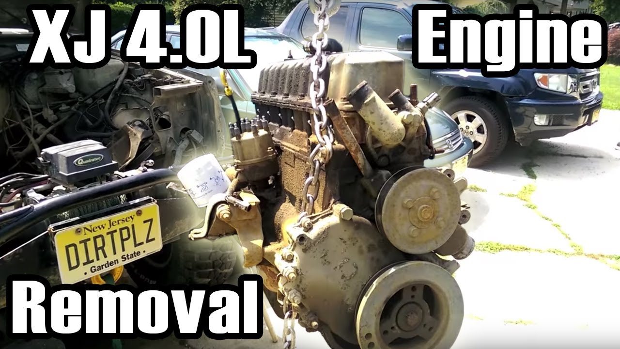 89 Cherokee 4.0L I6 Engine Removal - YouTube