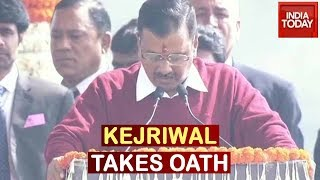 Arvind Kejriwal Takes Oath As Delhi's CM For Third Time | Watch Live
