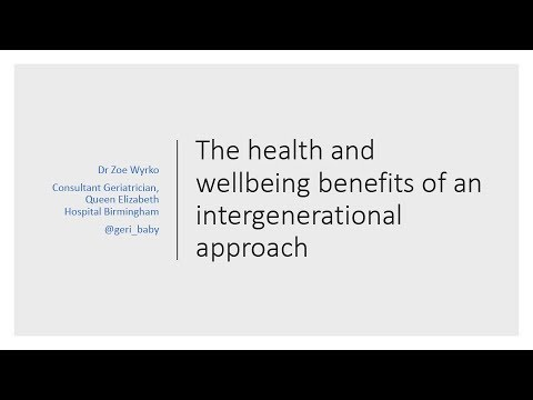 Zoe Wyrko: The health and wellbeing benefits of an intergenerational approach