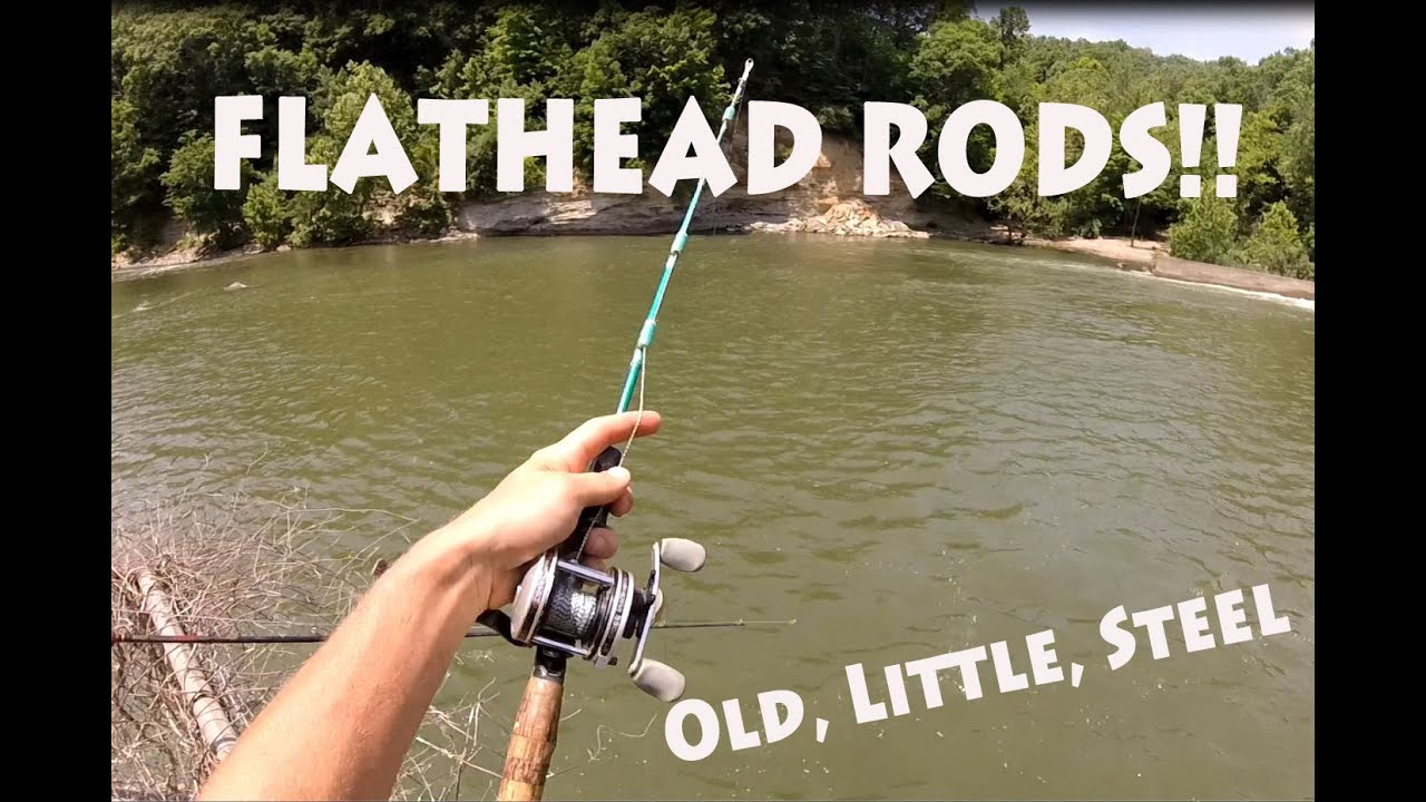 Little Old Metal Fishing Rods And Flatheads Youtube