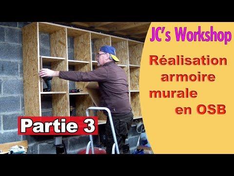 Comment faire une armoire murale avec porte en OSB - Partie 3 -  Travail du bois - #75