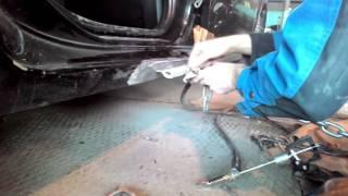 Toyota Corolla.Кузовной ремонт. порог, дверь