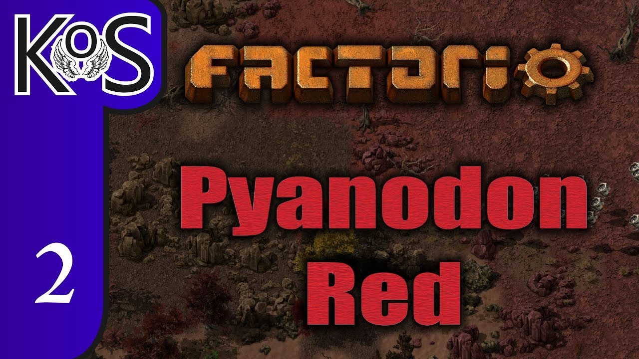 Factorio Pyanodon Red Ep 2: SMELTING AT LAST! - 0 16 - Gameplay, Let's Play