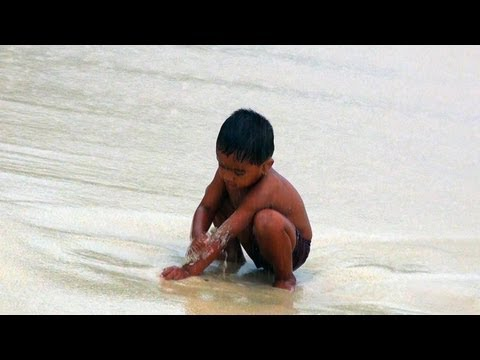 Child Playing at Jolly Buoy Beach