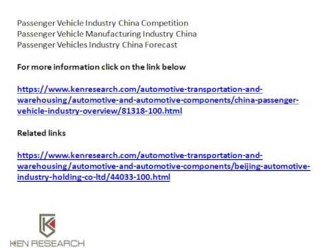 China Automobile Industry Research, China Passenger Vehicles Market Share -  Ken Research