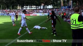 Falcao pierde la calma y propicia una pelea en el Mónaco. - Falcao fights in friendly match.