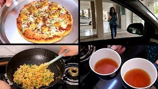 Sunday Morning to Afternoon Routine | Indian Mom Sunday Breakfast+Lunch Routine | Upma/HomemadePizza