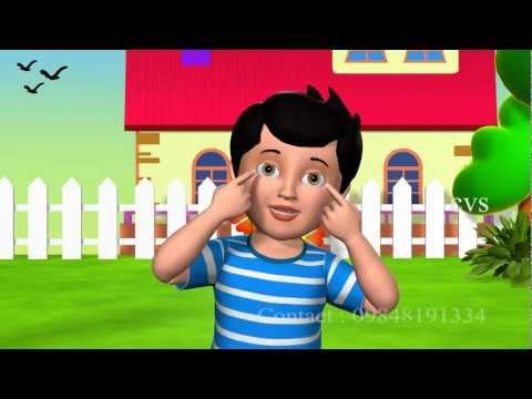 Ten little fingers ten little toes - 3D Animation English Nursery rhyme with Lyrics
