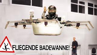 BEMANNTE DROHNE aus unserer BADEWANNE! | FLIEGENDE Badewanne!