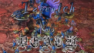 Video #63 Age of Sigmar Tzeentch -Vs- Flesh Eater Courts Moarhammer Battle Report download MP3, 3GP, MP4, WEBM, AVI, FLV September 2017