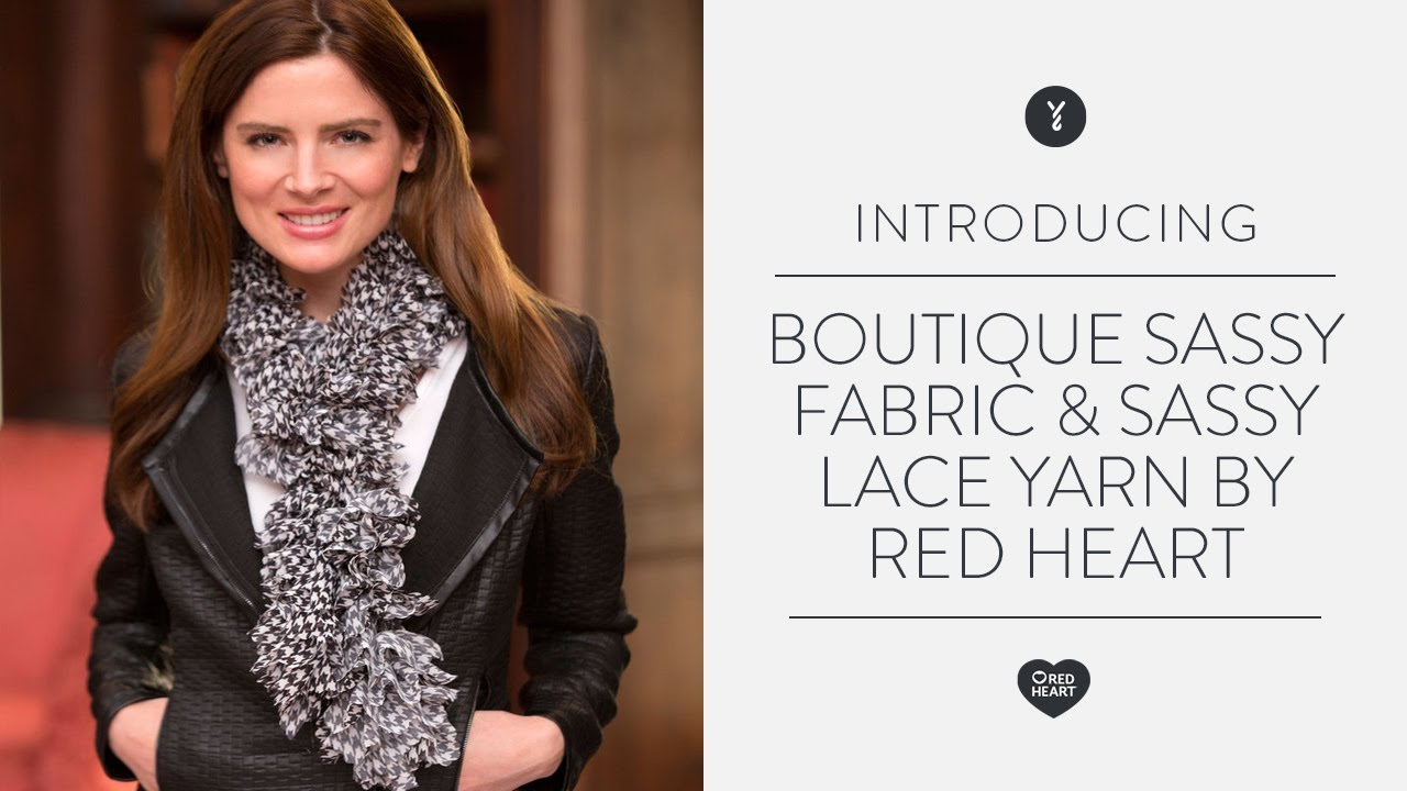 Boutique Sassy Fabric & Sassy Lace Yarn by Red Heart