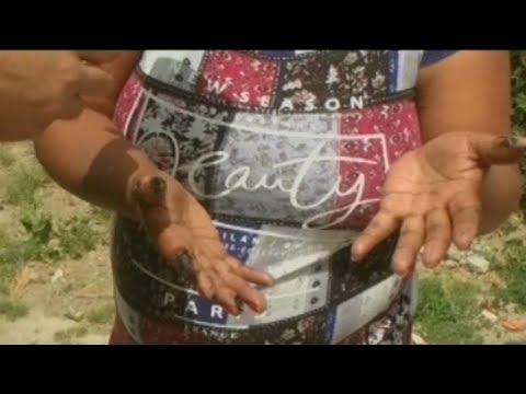 Descubrió petróleo en el patio de su casa y teme por su familia