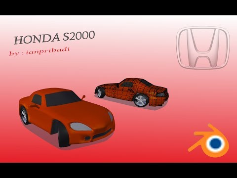 MODELING HONDA S2000 DENGAN BLENDER 3D