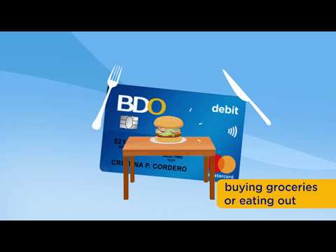 BDO Debit Card Info