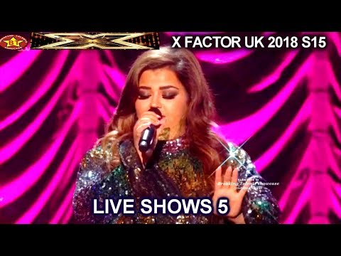 """Scarlett Lee """"Can't Take My Eyes Off You"""" SASSY & GIGGLES AWESOME    Live Shows 5 X Factor UK 2018"""