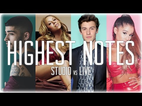 Singers Hit Their HIGHEST Notes EVER: Studio vs Live