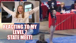 Reacting to My Level 7 State Gymnastics Meet Video