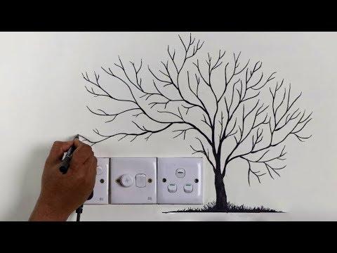 Best wall decoration 👌 ideas || wall art tree design ideas