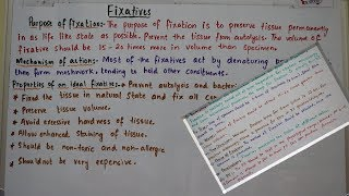 What is Fixation?Types of fixatives and factors affecting fixation.an easy way to understand