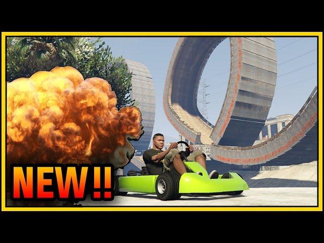 GTA 5 Online DLC: Go Kart and Ramp concept mods gameplay revealed