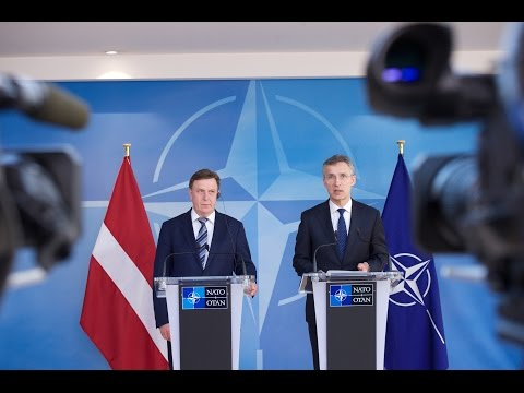 NATO Secretary General with Prime Minister of Latvia, 17 MAR 2016