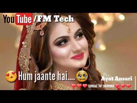 Hum Jante Hai Tum Hame Barbad Karoge WhatsApp status by FM TECH Hindi