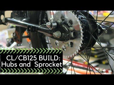 Honda CL/CB125 Build Part 2: Hubs and Sprocket AE16