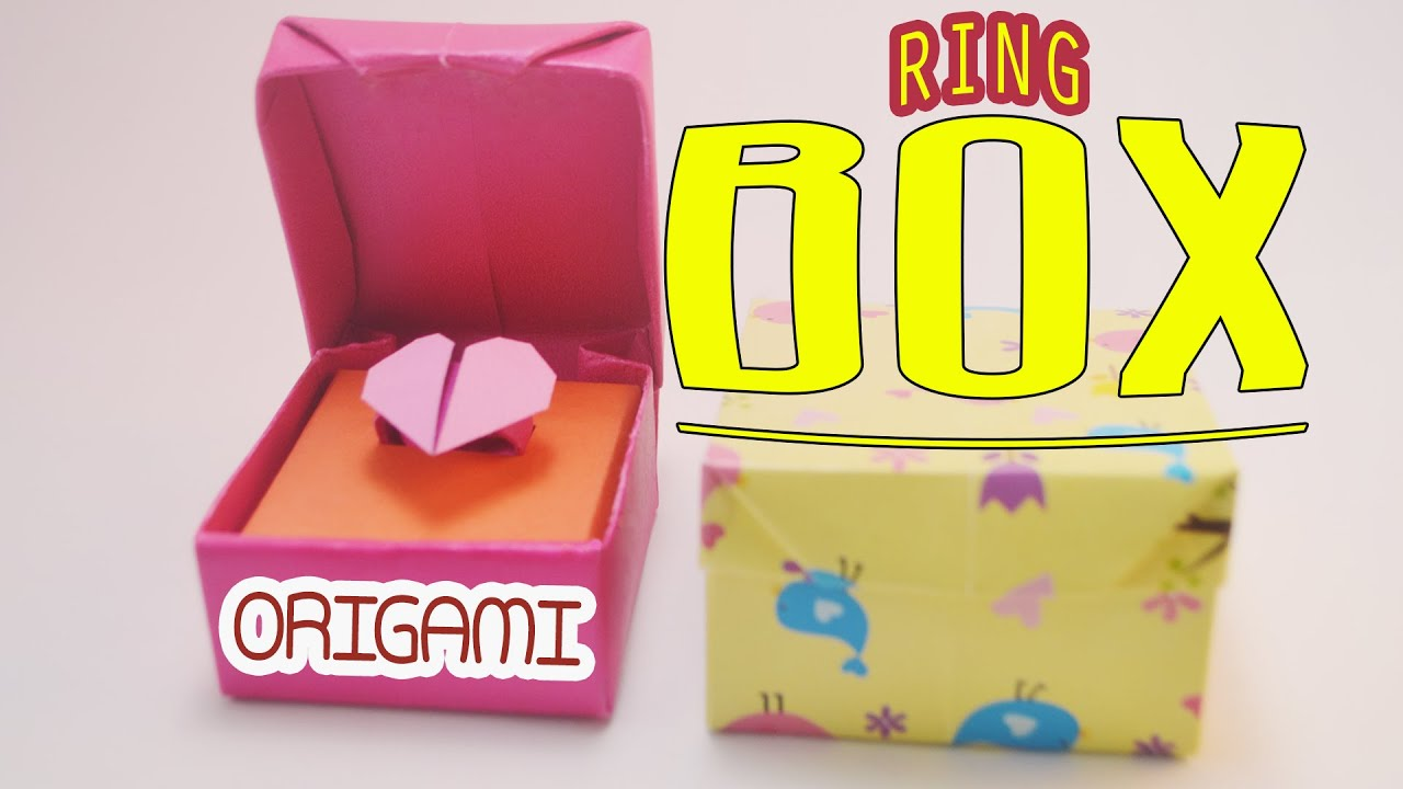 origami hinged box instructions