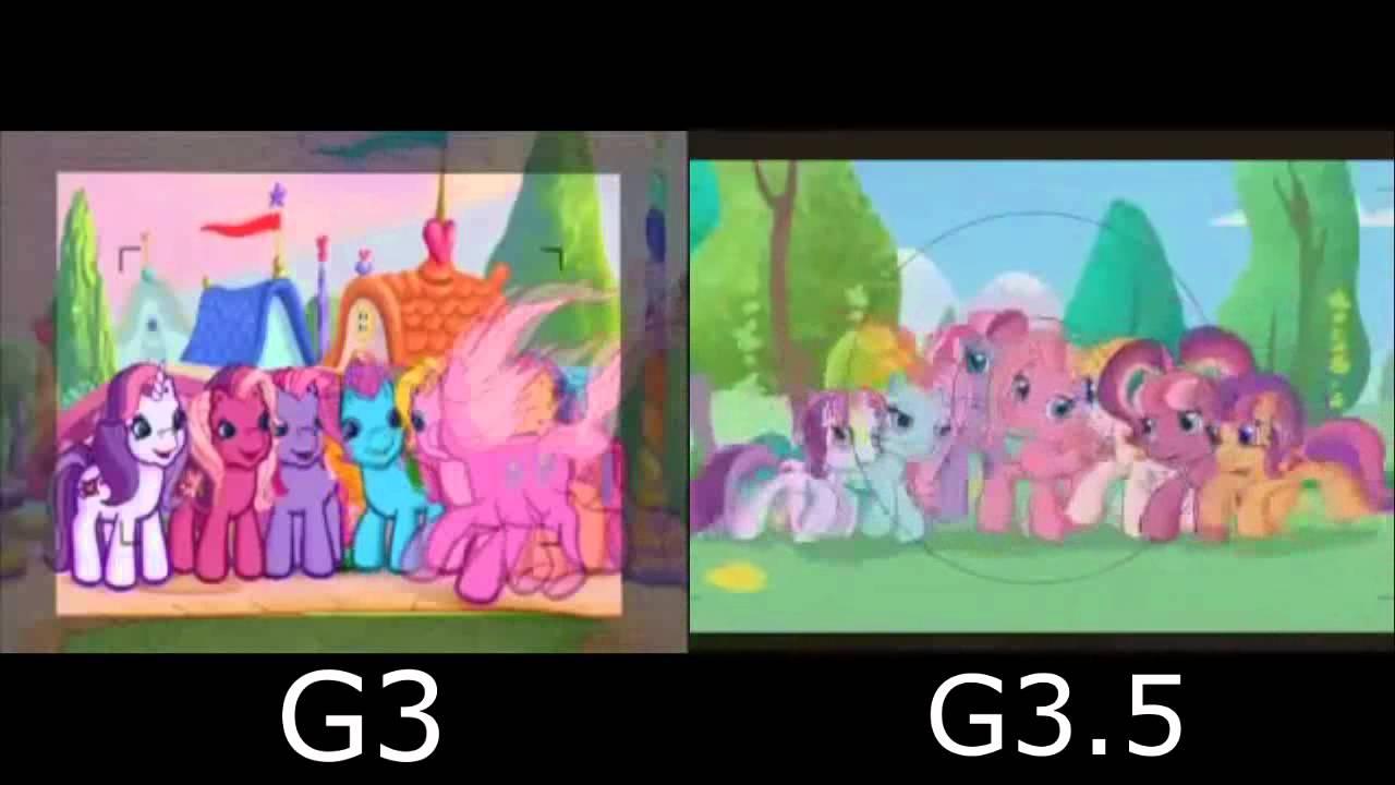 My Little Pony G3 G35 G4 Intro Comparison