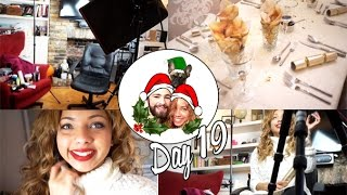 Filming videos & Early Christmas Dinner! ❄ Vlogmas 19 Thumbnail