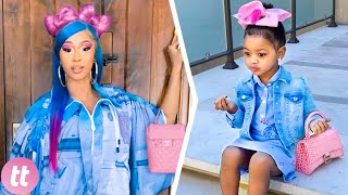 10 Times Cardi B And Kulture Matched Outfits