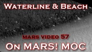 Waterline & Beach on Mars found by Global Surveyor MOC Mission