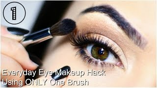 Everyday Eye Makeup Hack Using One Brush | TheMakeupChair