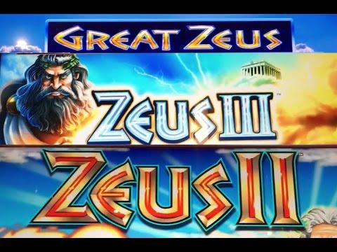 3 Different ZEUS Slot Machines! ✦Live Play✦ LAS VEGAS