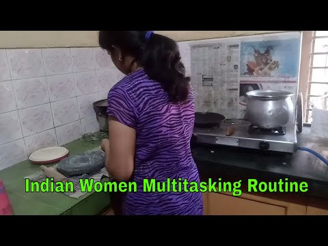INDIAN WOMEN'S MULTI TASKING ROUTINE - INDIAN DAILY ROUTINE BY Toy N Joy