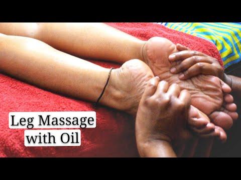 #IndianFeetMassage #Footreflexology Foot & Leg Massage For Sleep & Relaxation | ASMR Sounds With Oil