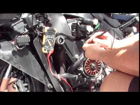 2005 Honda CBR 1000rr regulator and Stator test YouTube