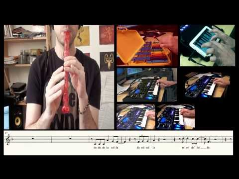 The Killers - Human Flute (recorder) cover and sheet music - Carlos Rodríguez Parrón
