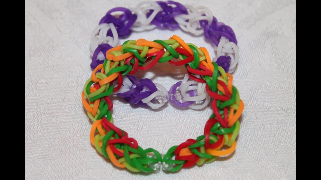 rainbow loom nederlands diamond bracelet diamant