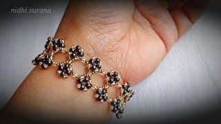 вљњпёЏLacy Bracelet/ Easy Beaded Jewelry/ Pulsera Tutorial diy (0579)
