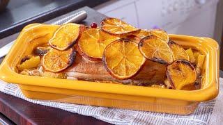 Шикарное мясо в духовке. Отличный вариант для праздничного стола. Как свинья в апельсинах