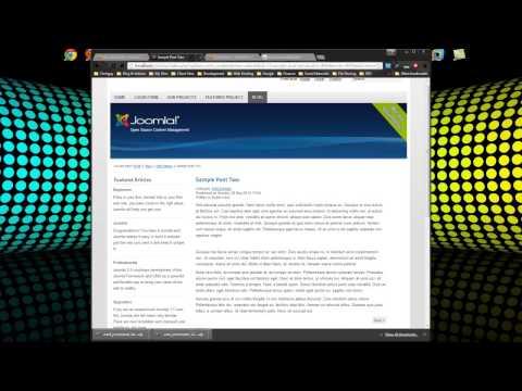 Build A Joomla 2.5 Blog