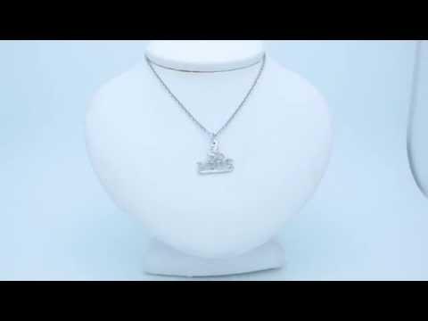 Rhodium-Plated 925 Sterling Silver I Do Nails Pendant - AZ10746SSDZ