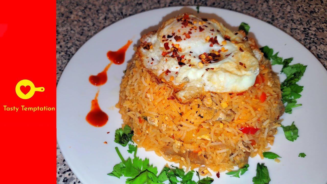 Nasi Goreng Indonesian Fried Rice In 1 Minute Youtube