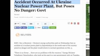 Accident Occurred At Ukraine Nuclear Power Plant