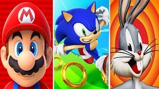 Super Mario Run vs Sonic Dash vs Looney Tunes Dash