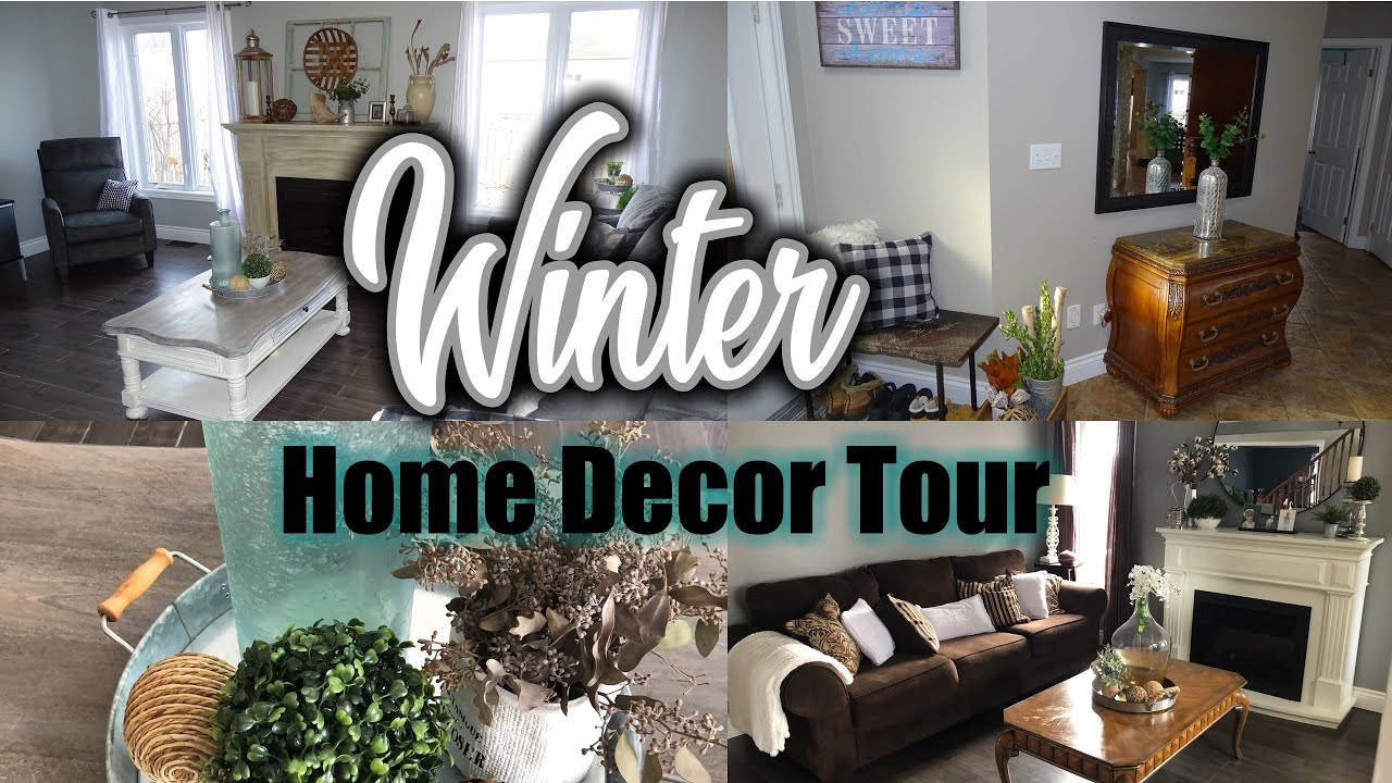 Winter Decor Home Tour 2020 Winter Decorating Ideas After Christmas Farmhouse Winter Decor Youtube