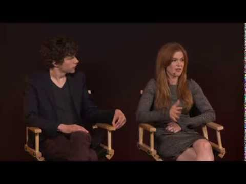 Jesse Eisenberg & Isla Fisher at Apple store regent street London
