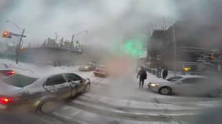 Toronto Snow Squall Biking and Bike Lane Clearing
